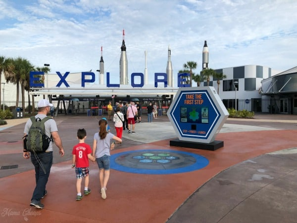 nasa kennedy space center front gate