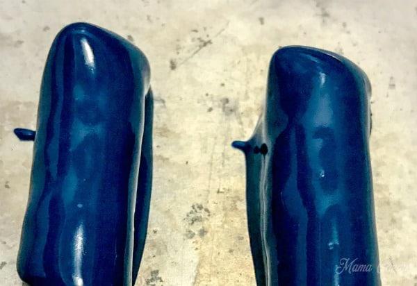 Blue chocolate pretzels