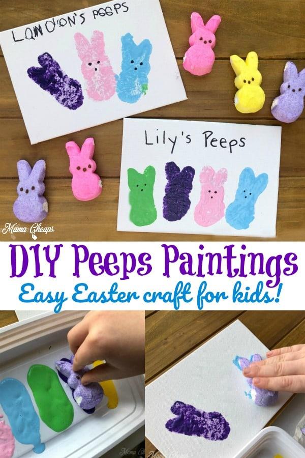 DIY Peeps Paintings