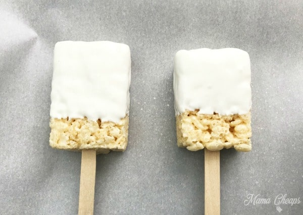 Dipped Rice Krispies Treats
