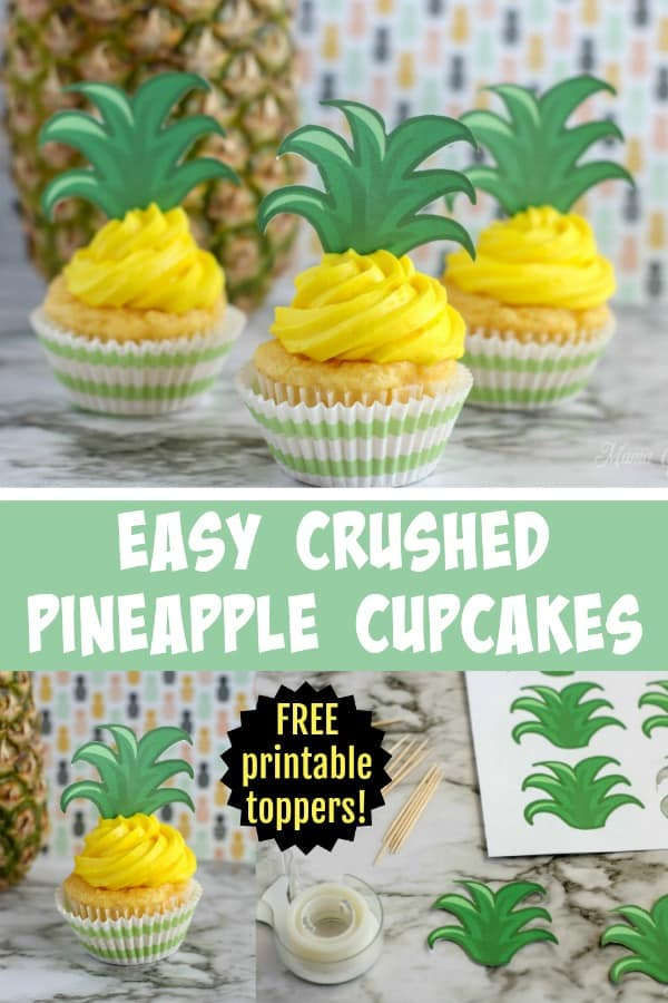 Easy Crushed Pineapple Cupcakes