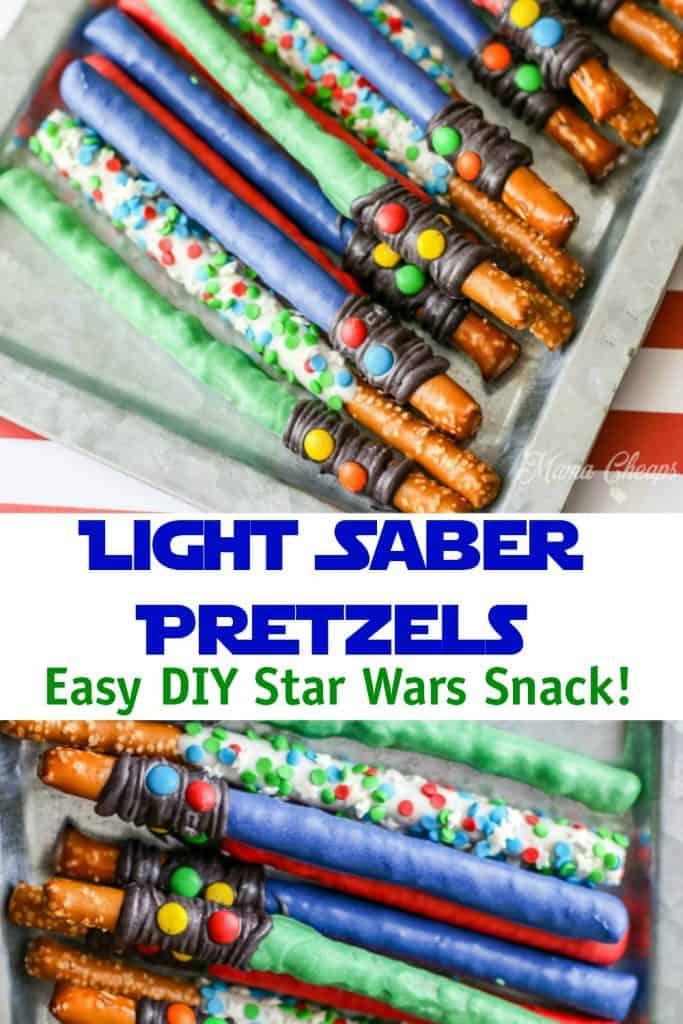 Light Saber Pretzels