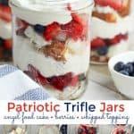 Patriotic Trifle Jars