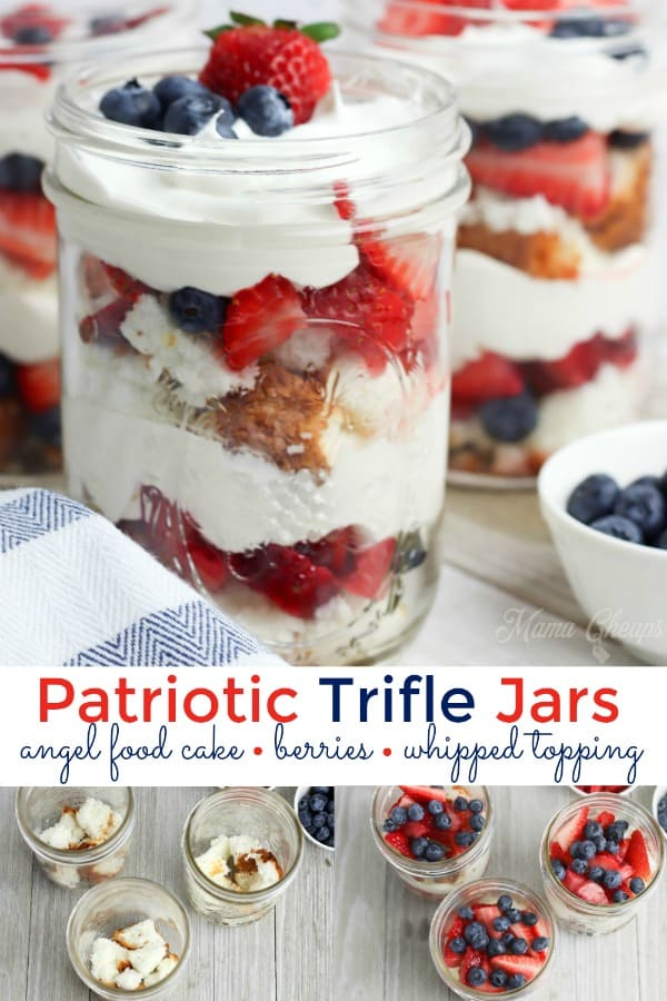 Patriotic Trifle Jars