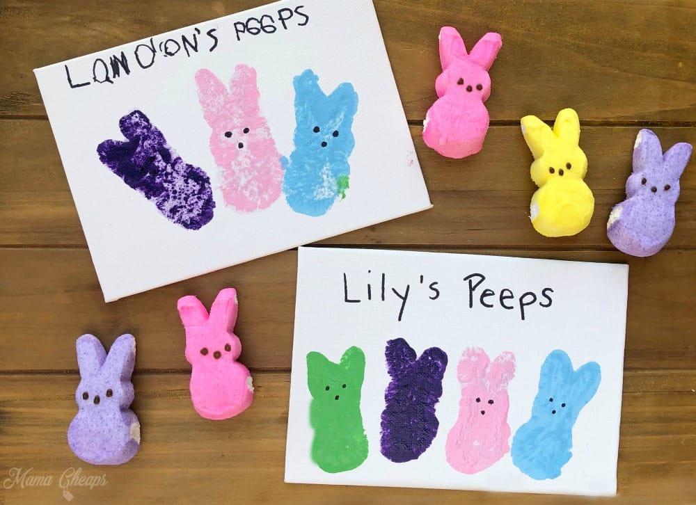 Peeps Paintings by Kids