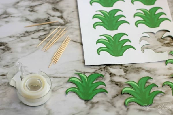 Pineapple topper printables