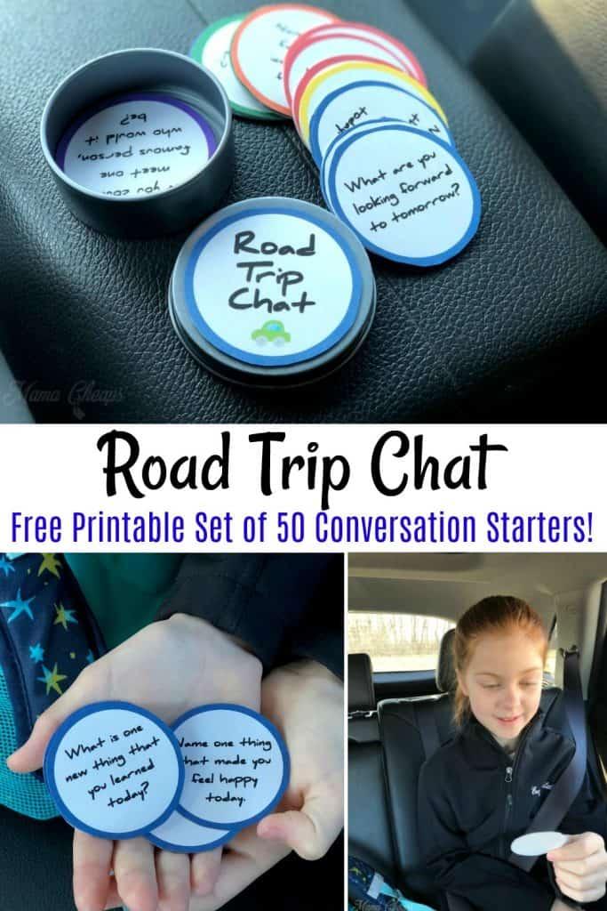 Road Trip Conversation Starter Printables