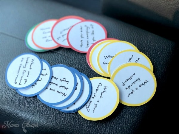 Road Trip Question Cards