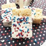 red white blue Rice Krispies Treats