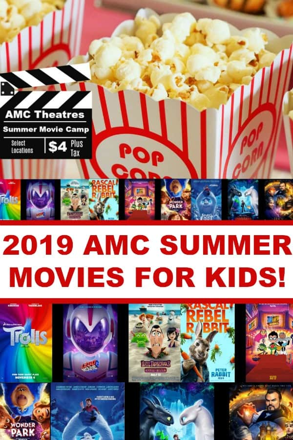 2019 AMC Summer Movies for Kids