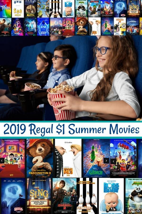 2019 Regal $1 Summer Movies