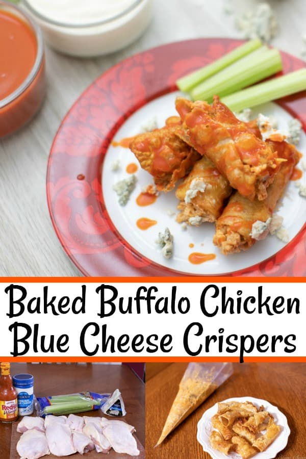 Baked Buffalo Chicken Blue Cheese Crispers