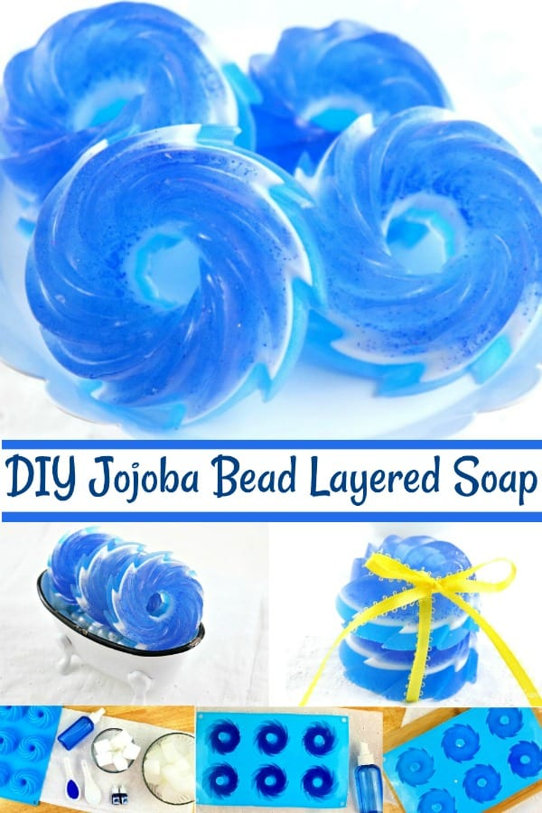 DIY Jojoba Bead Layered Soap