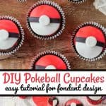 DIY Pokeball Cupcakes Easy Tutorial