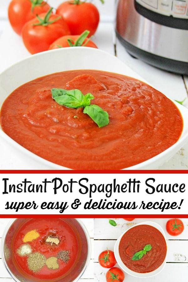 Easy Instant Pot Spaghetti Sauce