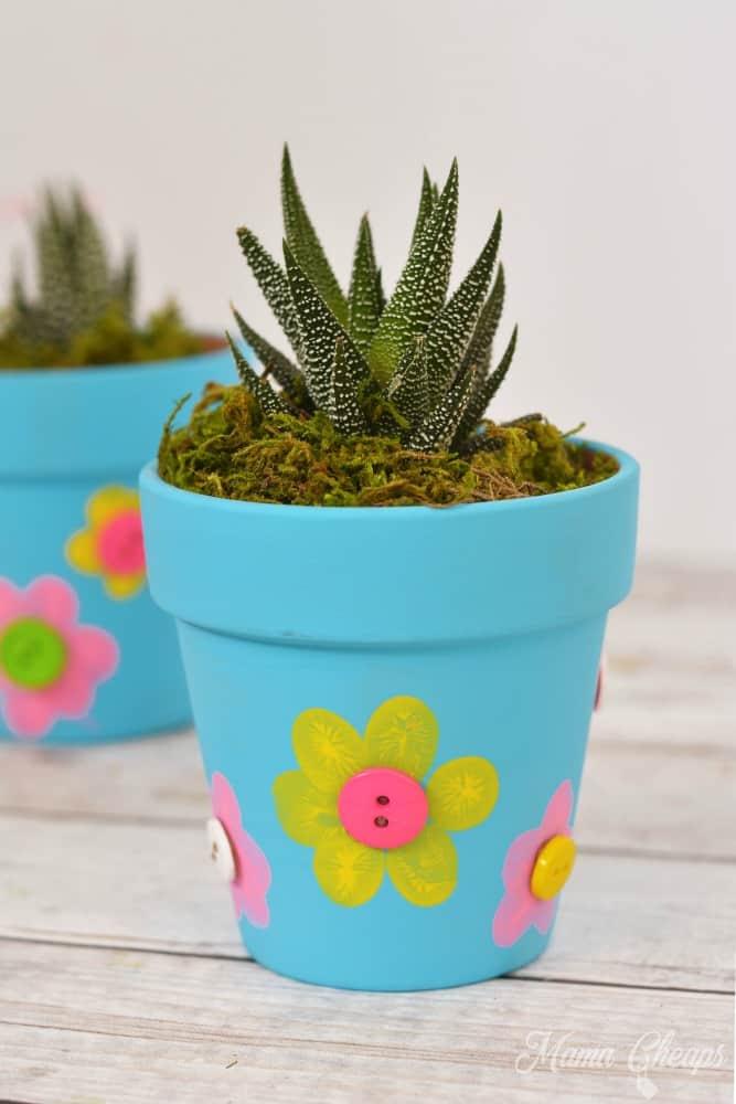 Fingerprint Flower Pot Craft #1 a