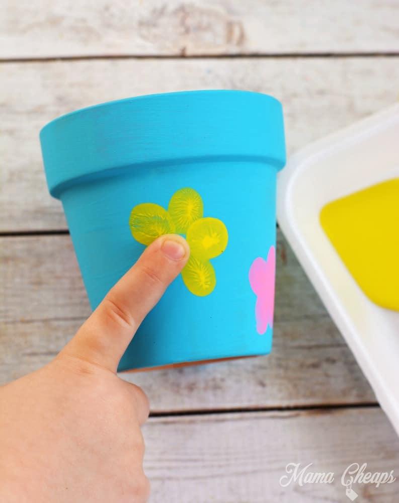 Fingerprint Flower Pots a