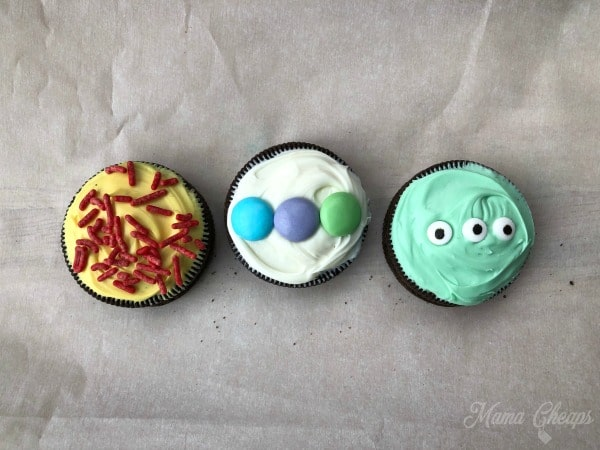 Finished OREO Toy Story Cookies