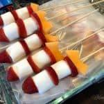 Fruit Rocket Kabobs in Dish