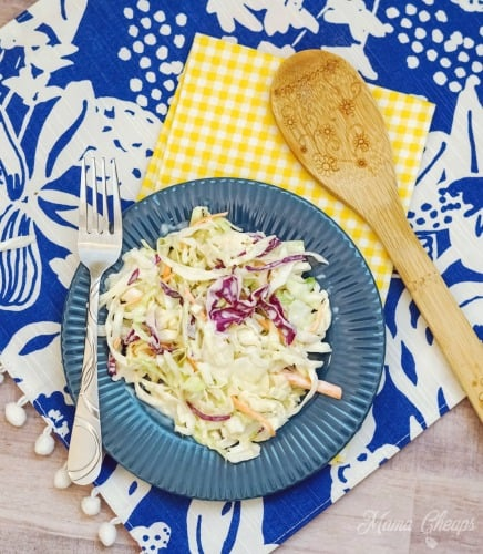 Homemade Copycat Chick Fil A Cole Slaw Plate