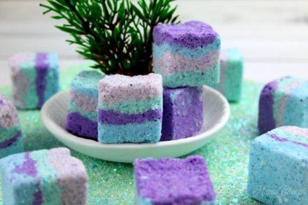 Mermaid Salt Cubes in Dish