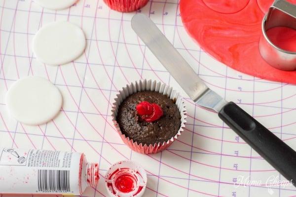 Red Gel Cupcakes