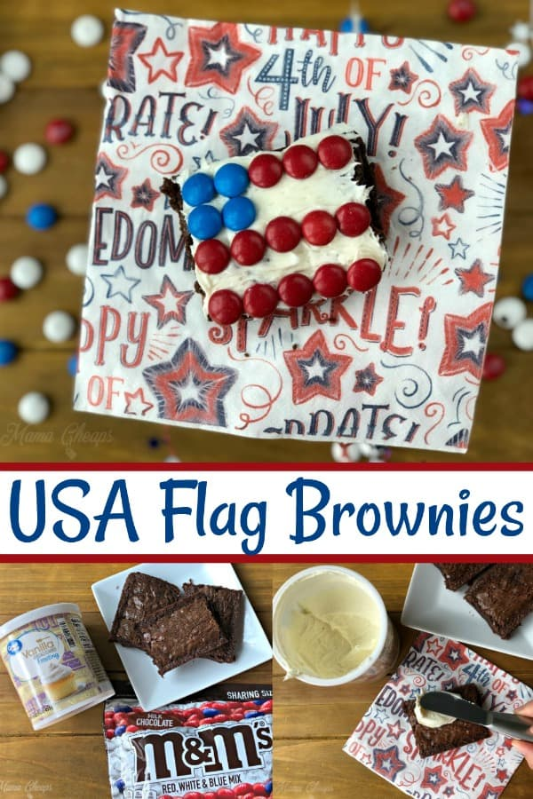 USA Flag Brownies