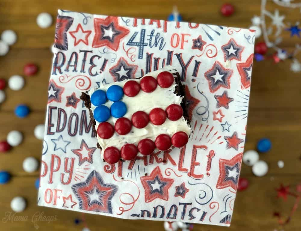 USA Flag Brownie Treats
