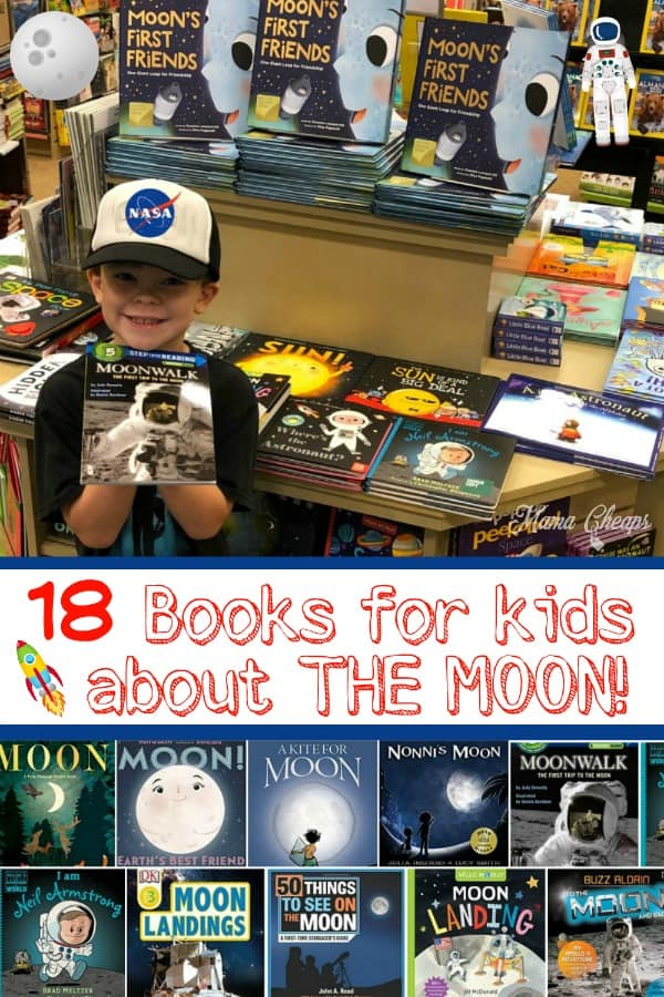 18 Books for kids about the moon