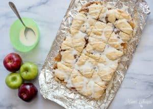 Apple Pecan Pie Bars Iced