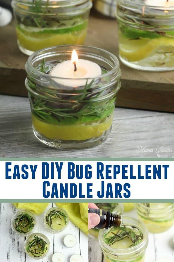 Easy DIY Bug Repellent Candle Jars