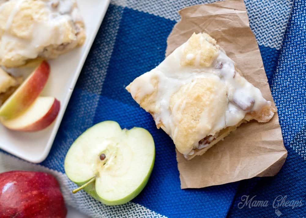 Homemade Apple Pecan Pie Bars