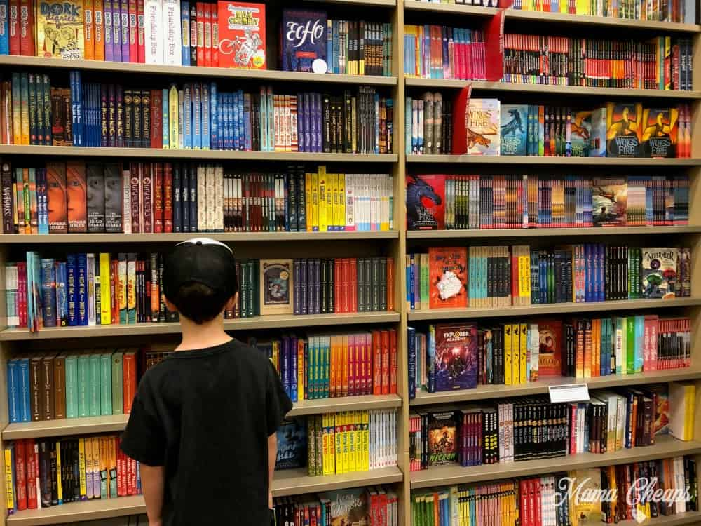 Kid in Book Store