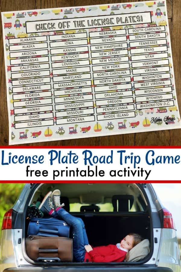 License Place Game Printable