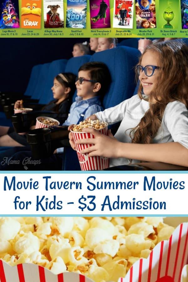 Movie Tavern Summer Movies
