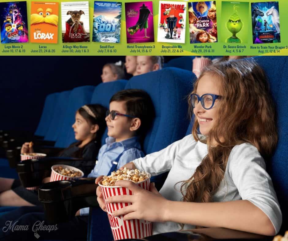 Movie Tavern Summer Movies for Kids