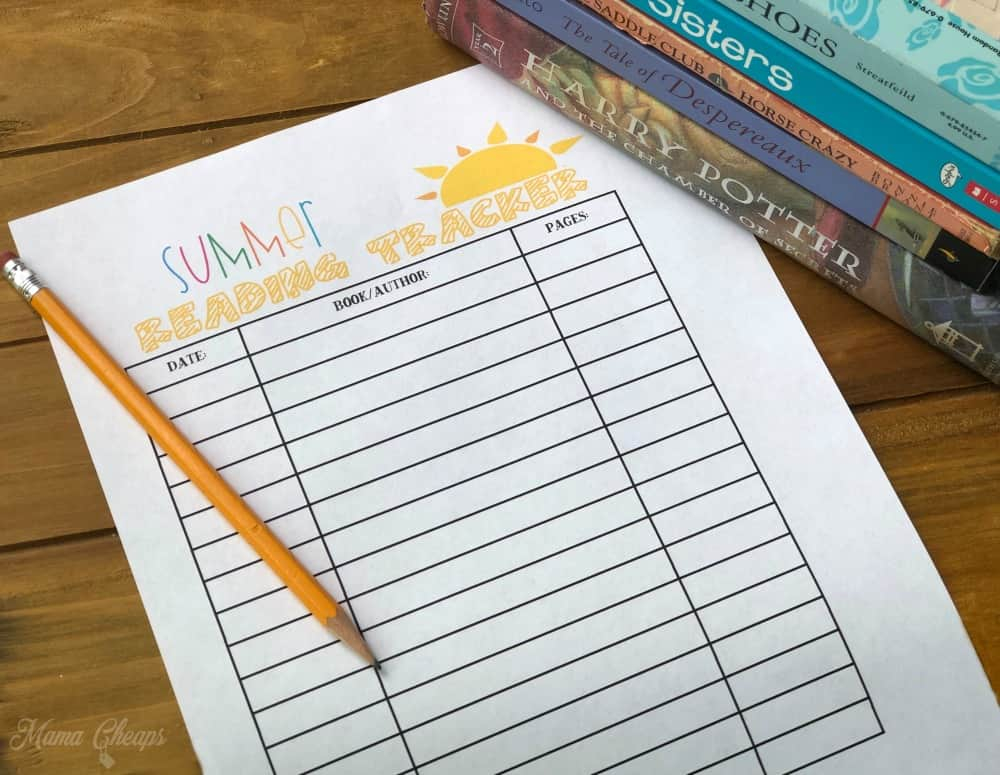 printable book log