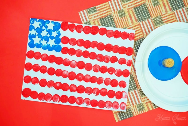 USA-Flag-Painting-Kid-DIY-Wine-Corks