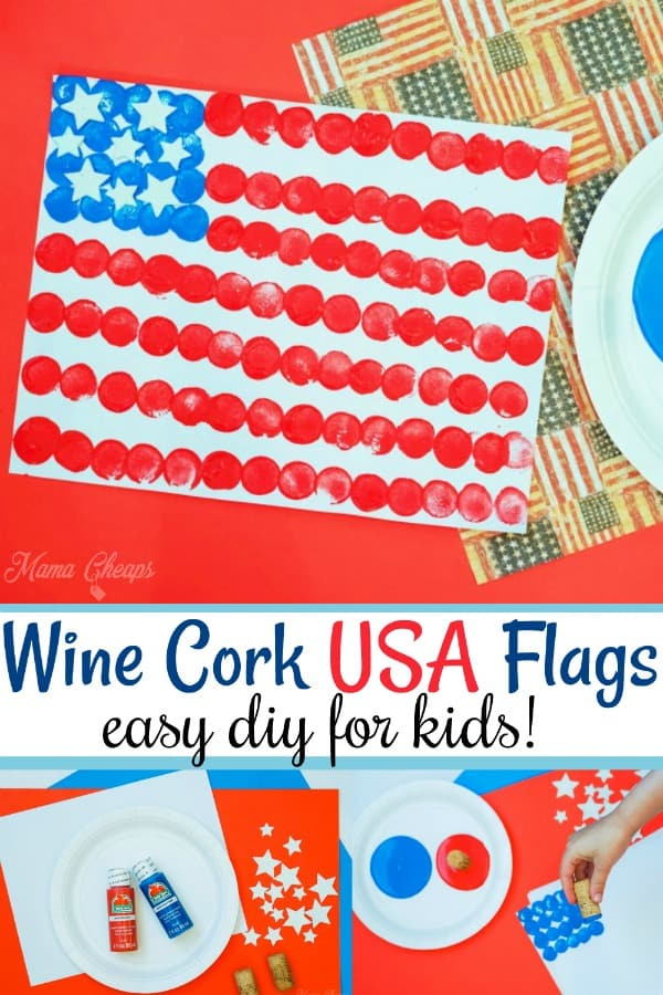Wine Cork USA Flags