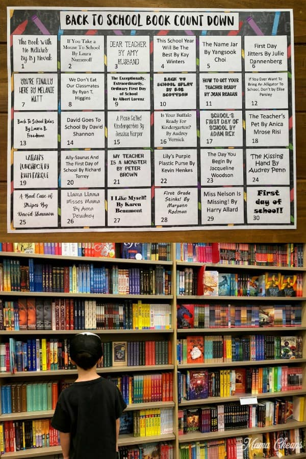 Back to School Books Countdown