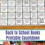 Back to School Books Printable Countdown