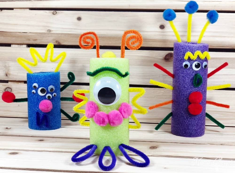 DIY Pool Noodle Monster Craft