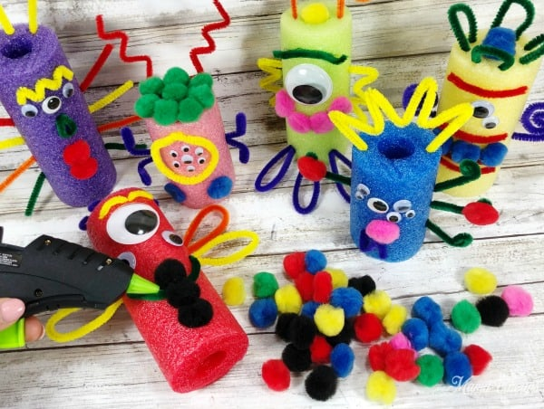 DIY Pool Noodle Monsters Glue