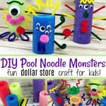 DIY Pool Noodle Monsters kid craft
