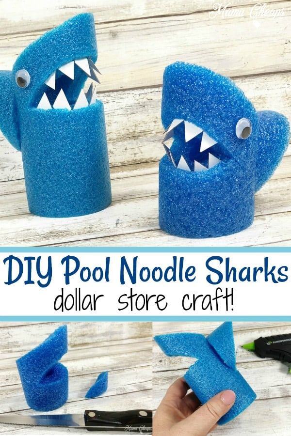 DIY Pool Noodle Sharks