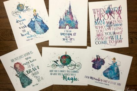 Disney Quotes & Characters Paper Prints