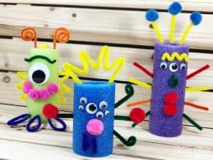Pool Noodle Monsters DIY Craft