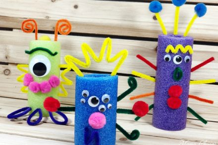 Pool Noodle Monsters DIY Craft