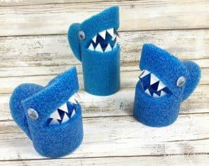 Pool Noodle Sharks Craft