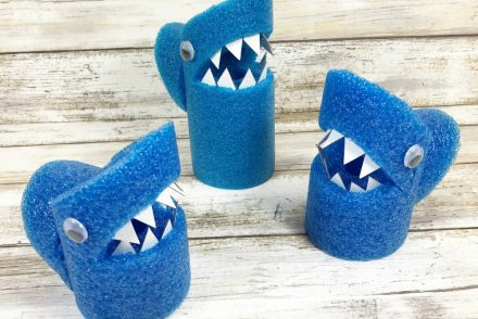 Pool Noodle Sharks Craft